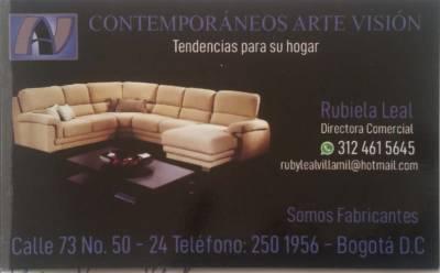 Contempor neos arte visi fabrica de muebles en general for Almacenes de muebles en bogota 12 de octubre
