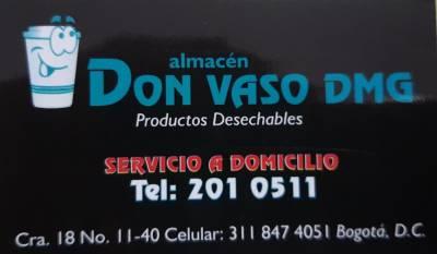 PRODUCTOS DESECHABLES DON VASO DMG   amarilla.co