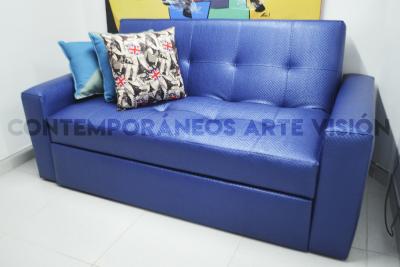 Sofa cama alemán de tres puestos 180 cm tapizado en lona o en ecocuero | amarilla.co