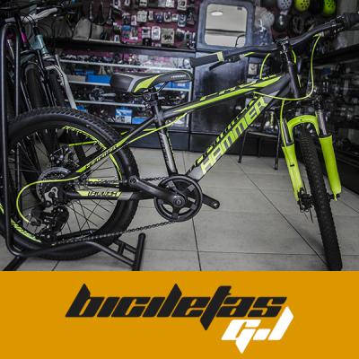 bicicleta todo terreno rin 20 marca banner freno de disco | amarilla.co
