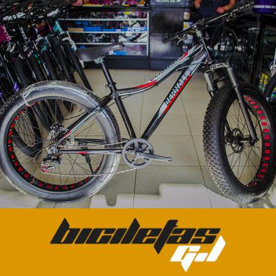 bicicleta faibike rin 26 x 4.0 freno de disco marco en aluminio | amarilla.co