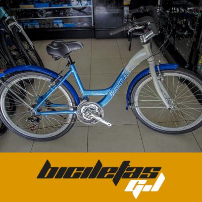 bicicleta playera Benoto rin 26 marco y tenedor en aluminio | amarilla.co
