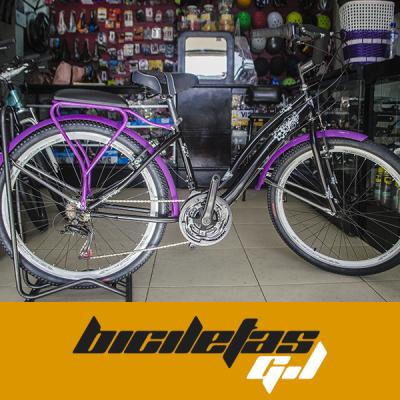 bicicleta playera rin 26 con cambios Shimano | amarilla.co