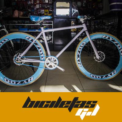 bicicleta Fixie con freno de disco rin 700 | amarilla.co