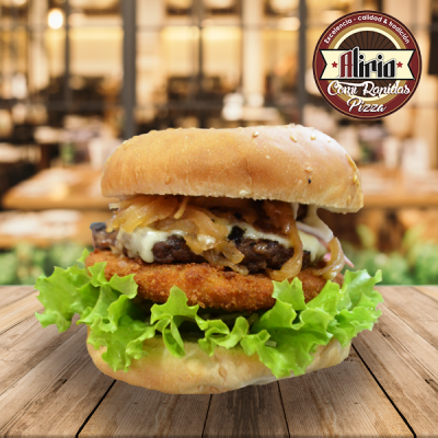 hamburguesa de pollo apanado doble | amarilla.co