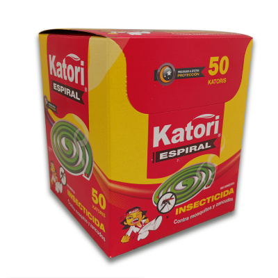 INSECTICIDA KATORI EN ESPIRAL POR 50 UNIDADES | amarilla.co