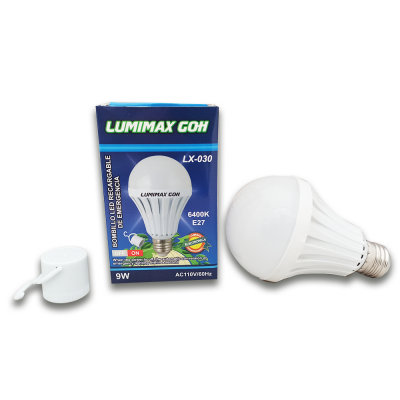 BOMBILLO LED RECARGABLE DE 9 W MARCA LUMIMAX | amarilla.co