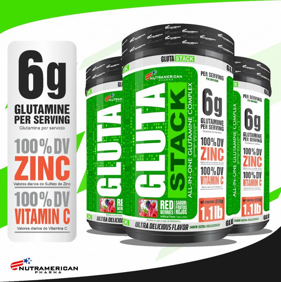 GLUTAMINE Gluta stack MEGAPLEX | amarilla.co