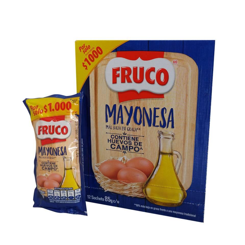 CAJA MAYONESA FRUCO POR 12 SACHETS DE 85 GRAMOS | amarilla.co