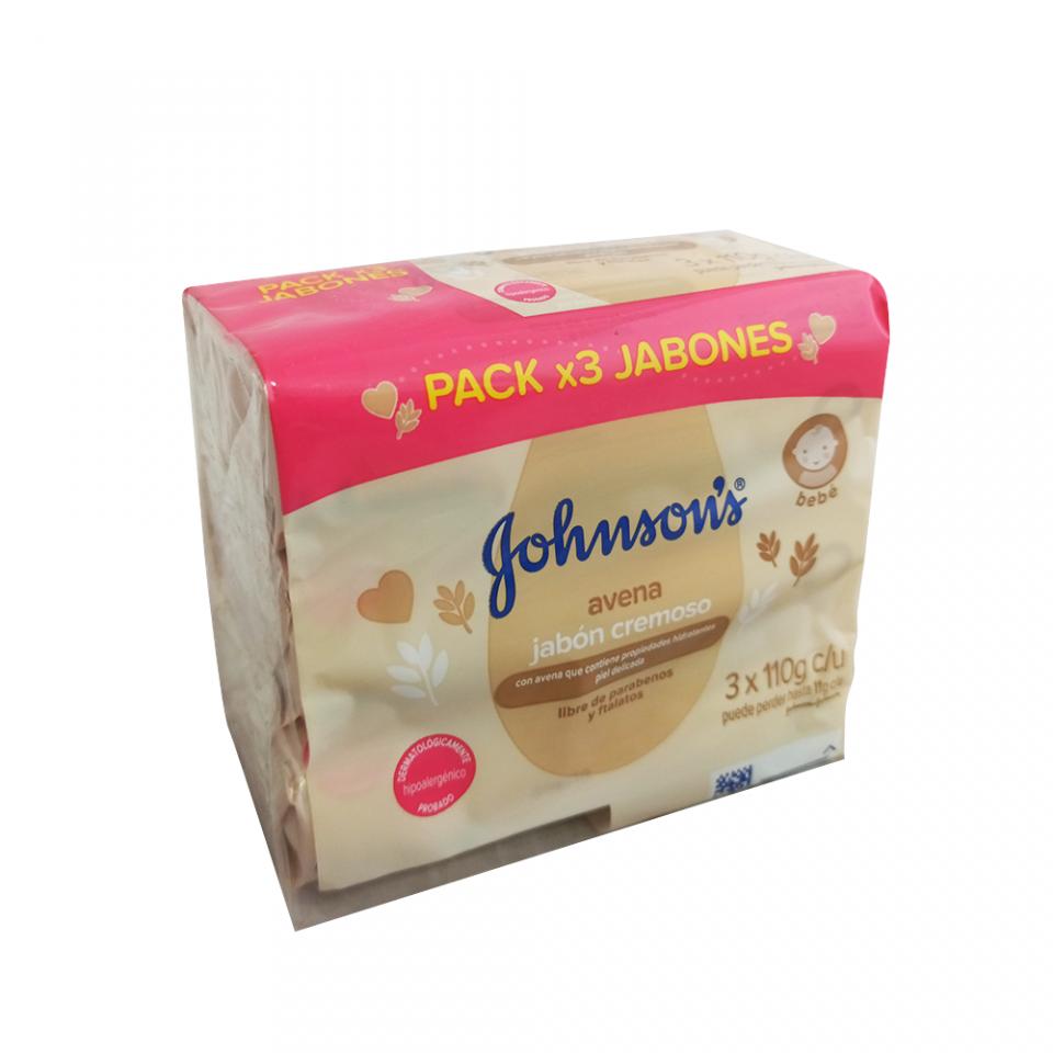 Jabón Johnson's  Baby Avena 3 unidades x 110g cada uno | amarilla.co