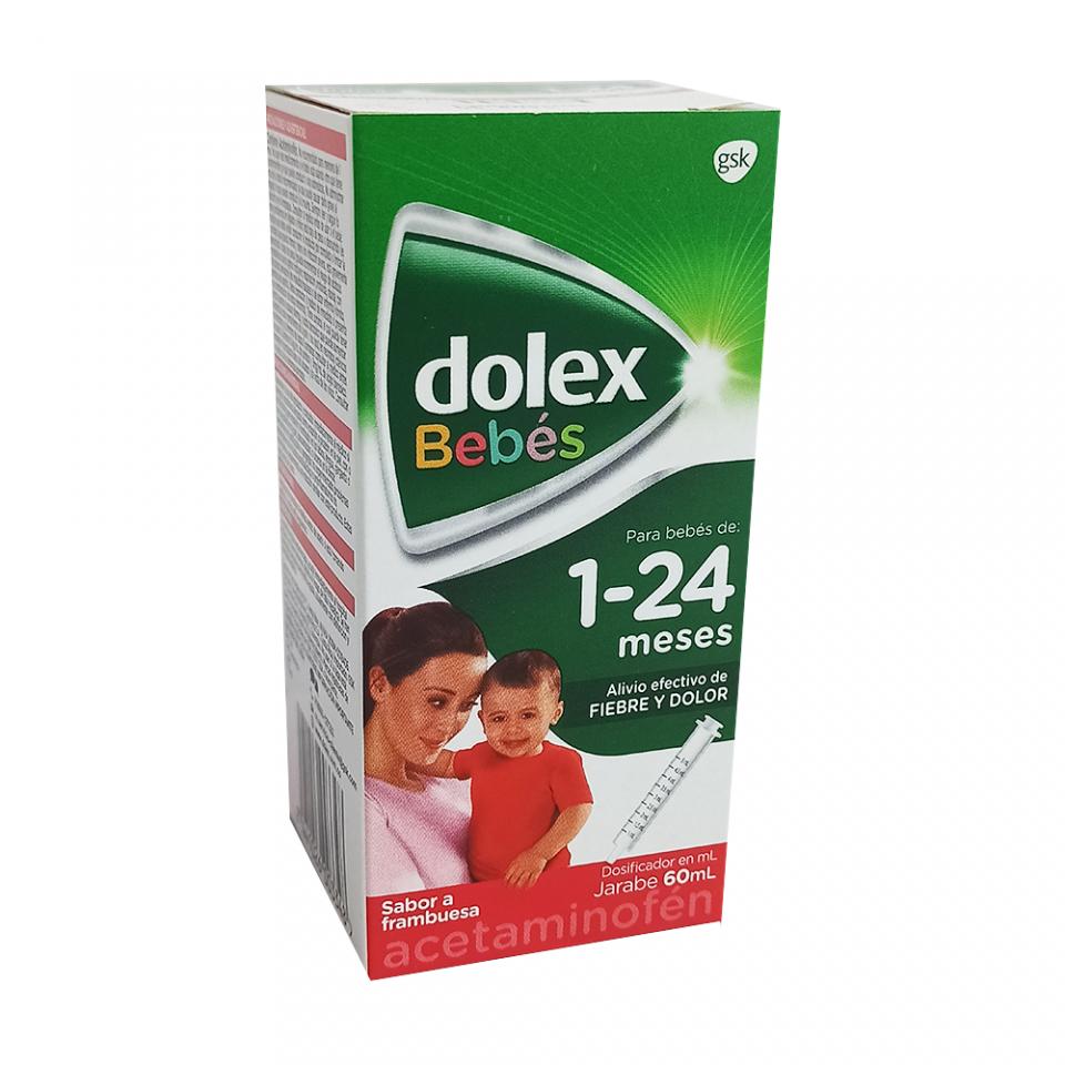 Dolex Bebé 1-24 meses jarabe 60ml con dosificador sabor a frambuesa - Acetaminofén | amarilla.co
