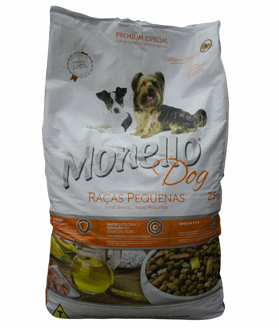 Monello Dog Razas Pequeñas  X 25 Kg | amarilla.co