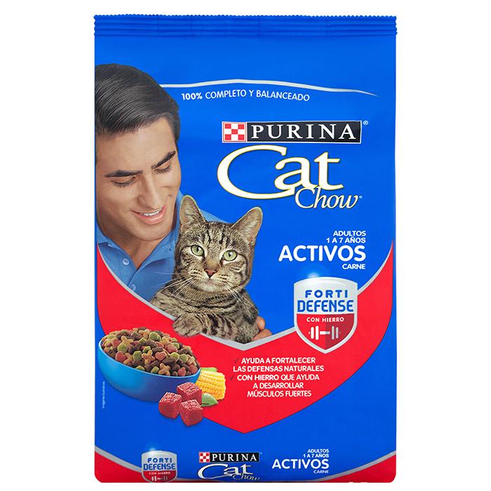 Alimento para Gatos CAT CHOW Adultos Activos Carne 15 Kilos | amarilla.co