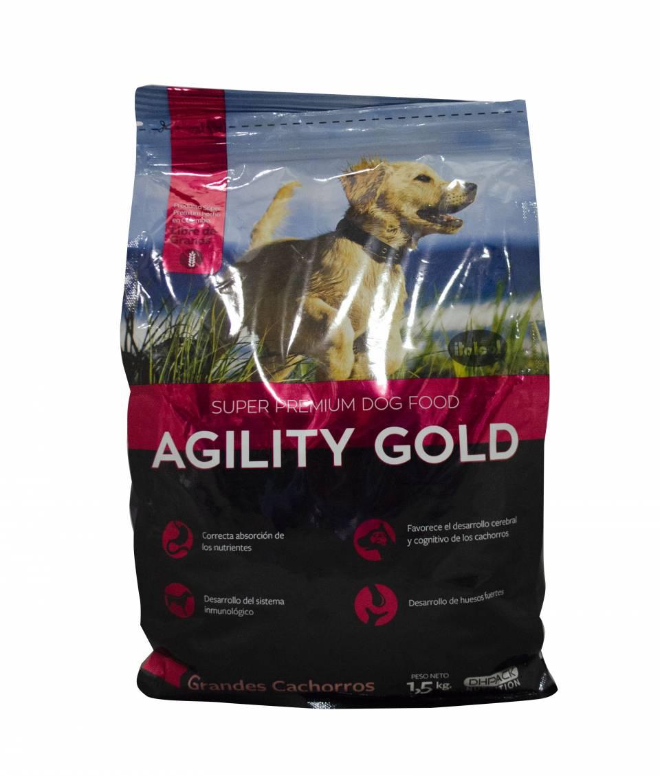 Comida para perros Agility Gold grandes cachorros x 1,5 kilos | amarilla.co