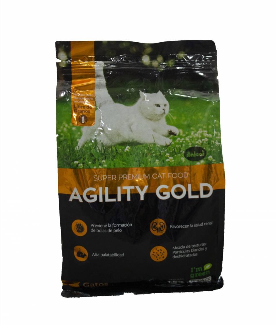 Comida para gatos Agility Gold  x 1,5 kilos | amarilla.co