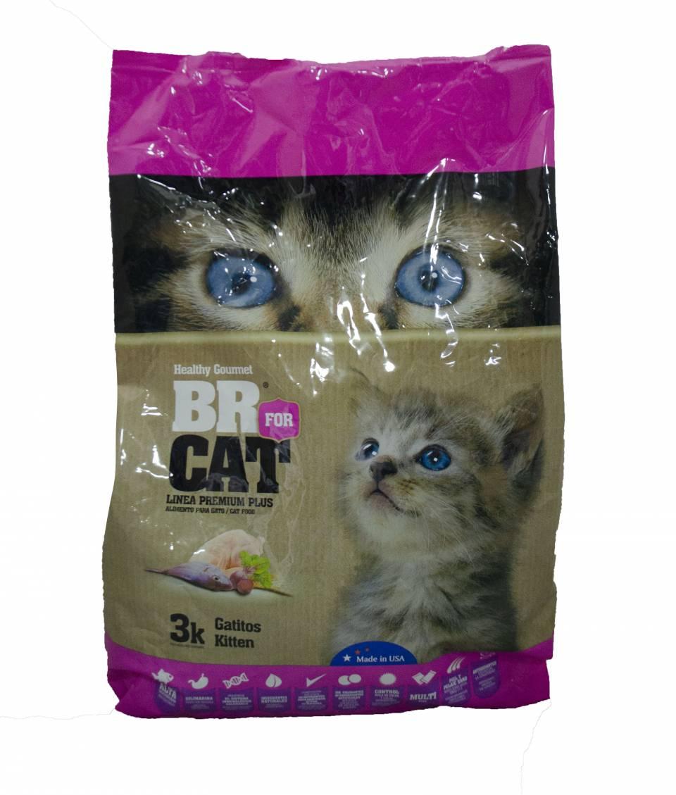 BR for cat linea premium plus gatos pequeños x 3 kilos | amarilla.co