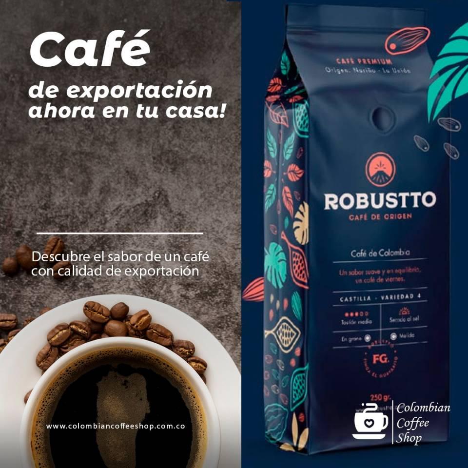 Café Robustto de Origen 250g en Grano o Molido Bogotá | amarilla.co