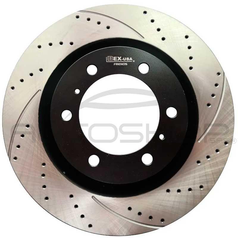 Disco de freno Delantero Toyota Prado TX- TX-L - VX - 4RUNNER Hiperventilados | Perforados. | amarilla.co