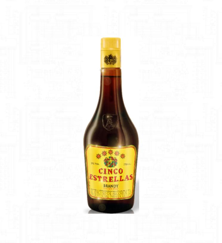 Brandy Cinco Estrella Botella | amarilla.co